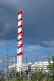 Schoorsteen van elektrische centrale Stock Afbeelding