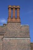 Schoorstenen bij de Bouw van het Paleis van het Hampton Court Stock Fotografie