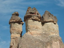 Schoorstenen en Cappadocia-gebied Stock Afbeelding