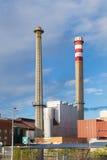 Schoorstenen 1 van de fabriek Stock Foto's