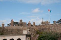 Schoorstenen van het kasteel Stock Afbeelding