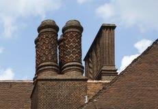 Schoorstenen van Schloss Cecilienhof Stock Afbeeldingen