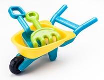 Schophark en kruiwagenstuk speelgoed royalty-vrije stock afbeeldingen