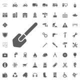Schoppictogram Bouw en Hulpmiddelen vector geplaatste pictogrammen Royalty-vrije Stock Foto's