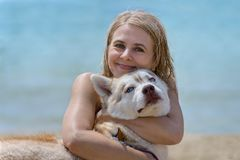 Schor en blonde Stock Foto's