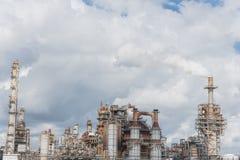 Schornstein an der Erdölraffinerie in Pasadena, Texas, USA lizenzfreie stockbilder