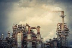 Schornstein an der Erdölraffinerie in Pasadena, Texas, USA stockbilder