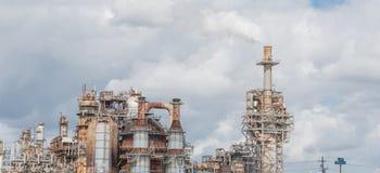 Schornstein an der Erdölraffinerie in Pasadena, Texas, USA stockfoto