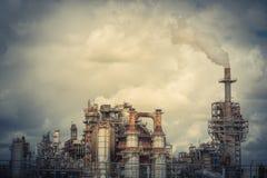 Schornstein an der Erdölraffinerie in Pasadena, Texas, USA lizenzfreies stockfoto