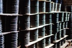 Schorskoppeling Het passen voor Plastic die pijpen in een van de het gebruiksloodgieterswerk of riolering van de pakhuiswerf inst stock afbeelding