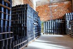 Schorskoppeling Het passen voor Plastic die pijpen in een van de het gebruiksloodgieterswerk of riolering van de pakhuiswerf inst stock fotografie