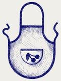 Schort voor de keuken stock illustratie