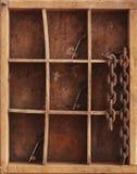 Schort whith sleutels en ketting op Stock Afbeelding