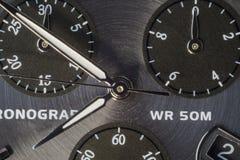 Schot van chronograaf het dichte omhooggaande makro royalty-vrije stock afbeelding