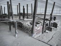 Schot van de ruïnes van een cremator royalty-vrije stock fotografie