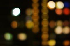 De stads echte bokeh van de nacht Stock Fotografie