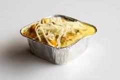 Schotel de macaronis Photo libre de droits