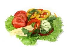 Schotel met een salade Stock Afbeeldingen
