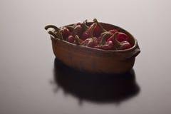 Schotel met piment wordt gevuld dat Royalty-vrije Stock Afbeeldingen