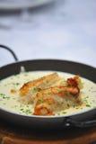 Schotel met zeevruchten Stock Fotografie