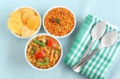 Schotel van de zuiden de Indische Traditionele Vegetarische Rijst, het Bad van Bisi Bele Stock Foto
