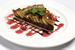 Schotel van het Dessert van appelen de Scherpe Royalty-vrije Stock Foto