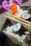 Schotel van sushi Royalty-vrije Stock Afbeeldingen