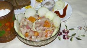 Schotel van verse vissen stock foto
