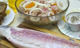 Schotel van verse vissen stock afbeelding
