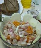 Schotel van verse vissen stock fotografie