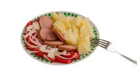 Schotel voor een voedende lunch stock fotografie