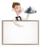 Schotelkelner Sign Royalty-vrije Stock Afbeeldingen