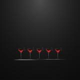 Schoten met een drank Het ontwerp van het menu Royalty-vrije Stock Foto's