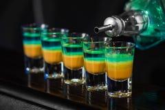 Schoten in nachtclub stock foto