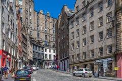 Schotland, Edinburgh, 2016, 26 Juni: De straat van de het westenboog Royalty-vrije Stock Foto