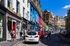 Schotland, Edinburgh, 2016, 26 Juni: Het westenboog, Victoria Street Royalty-vrije Stock Foto's