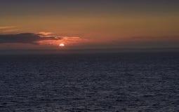 Schotland op de Horizon bij Zonsondergang royalty-vrije stock foto