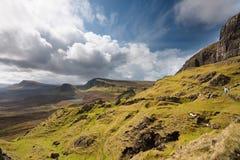Schotland-Quirang op Eiland van Skye stock afbeelding