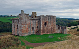 Schots de 15de eeuwkasteel, Crichton-Kasteel Royalty-vrije Stock Afbeeldingen