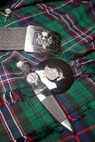 Schots distelsymbool Stock Foto's