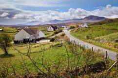 Schots dorp, Schotland, Eiland van Skye Quiraing stock foto's