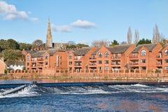 Schots geruite broekwaterkering - Exeter Stock Afbeeldingen