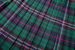 Schots geruite Schotse wollen stof royalty-vrije stock foto
