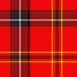 Schots geruite Schotse wollen stof royalty-vrije illustratie