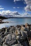 Schots hooglandstrand Royalty-vrije Stock Afbeeldingen