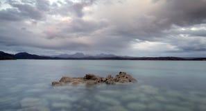 Schots hooglandstrand Stock Afbeelding