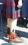 Schots-Ierse festivaldeelnemers Stock Foto
