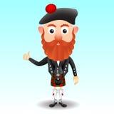 Schots karakter in kilt Royalty-vrije Stock Afbeelding