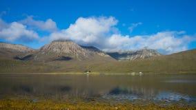 Schots landschap met typisch Schots weer royalty-vrije stock foto's