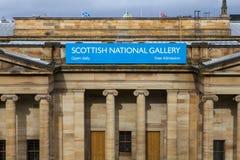 Schots National Gallery in Edinburgh royalty-vrije stock afbeelding
